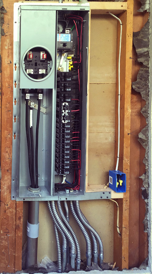 photo of new electrical control panel